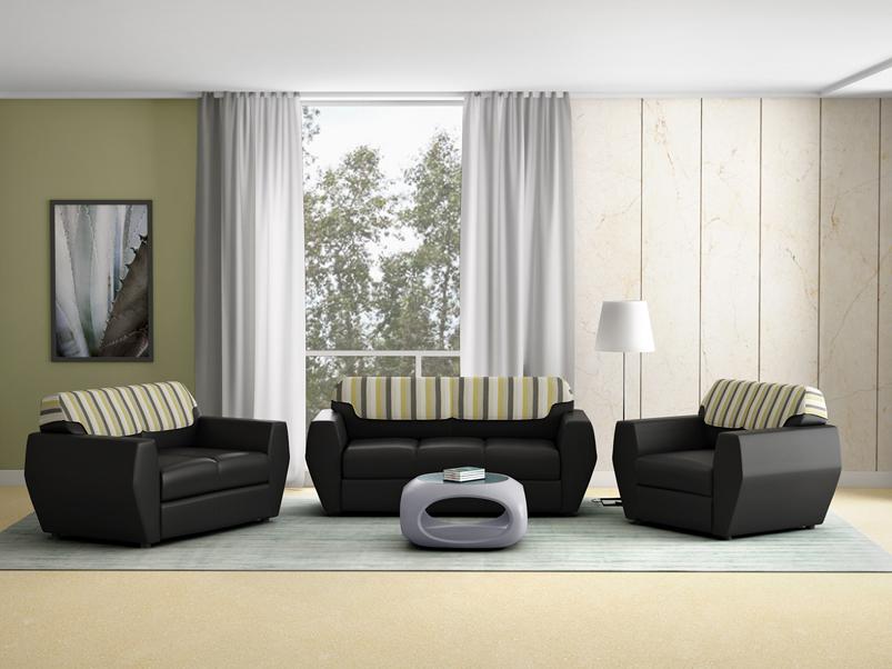 Buy Facet 2 Seater Sofa In Leatherette & Black | Godrej Interio
