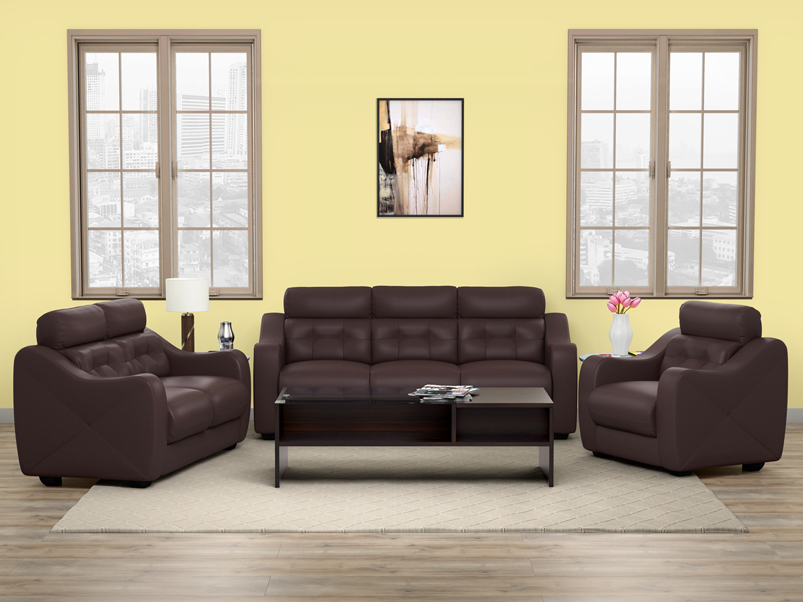 Buy Divine 3 Seater Sofa In Leatherette Burgundy Godrej Interio Godrej has come off with an offer for modular kitchens. buy divine 3 seater sofa in leatherette
