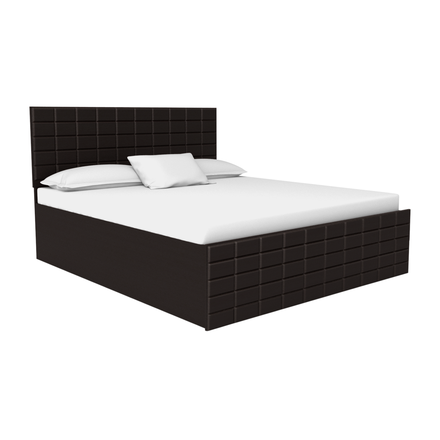 Picture of: Buy Chocolate King Size Bed With Storage In Cola Rain Godrej Interio