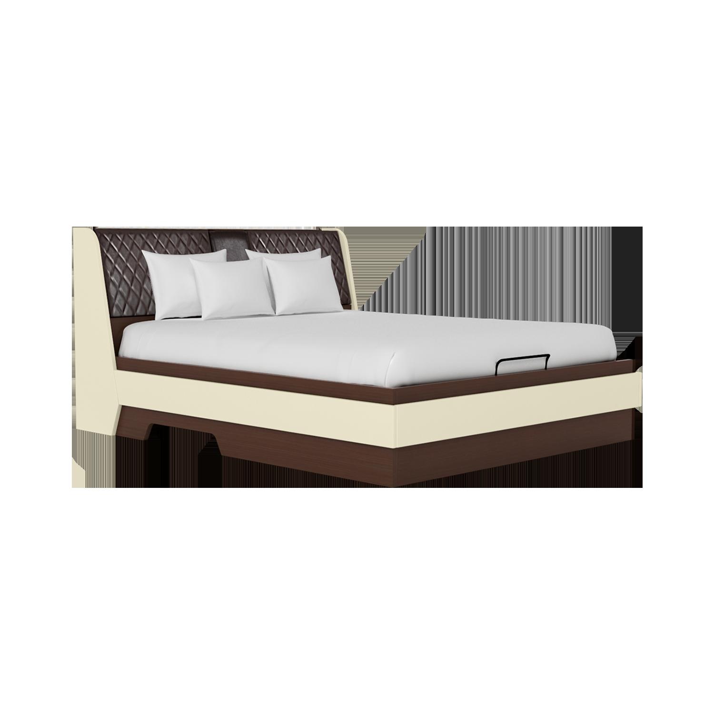 Buy Aero Queen Size Bed Hydraulic Storage In Valigny Oak Godrej Interio
