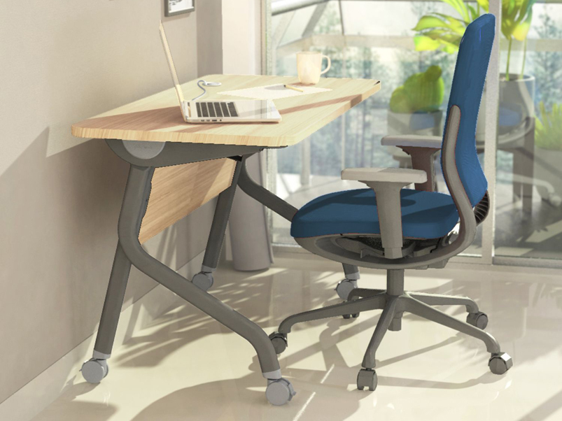 Buy Godrej Interio Fold Work From Home Mobile Table In Brown Colour