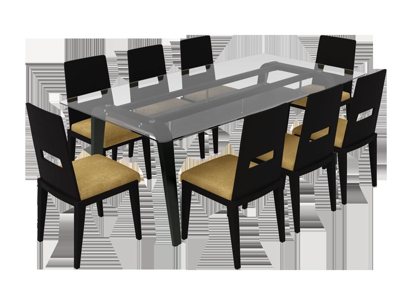Buy Crescent Plus 8 Seater Dining Table In Dark Chocolate Godrej Interio