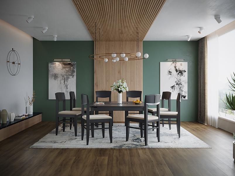 Buy Jewel Pro 8 Seater Dining Table In Mahagony Godrej Interio