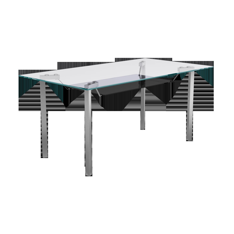 Buy Glitz 6 Seater Dining Table In Chrome Godrej Interio