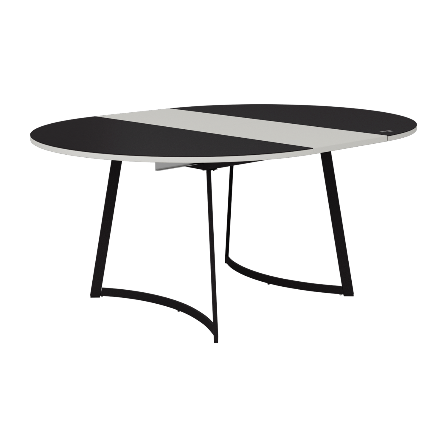 Buy Salt Pepper 6 Seater Dining Table In Black Godrej Interio