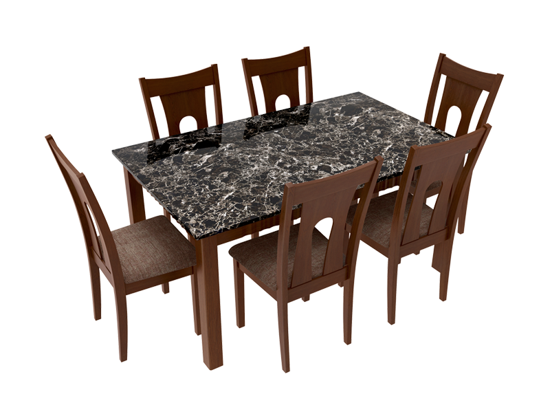 Buy Onyx 6 Seater Dining Table In Cappuccino Godrej Interio