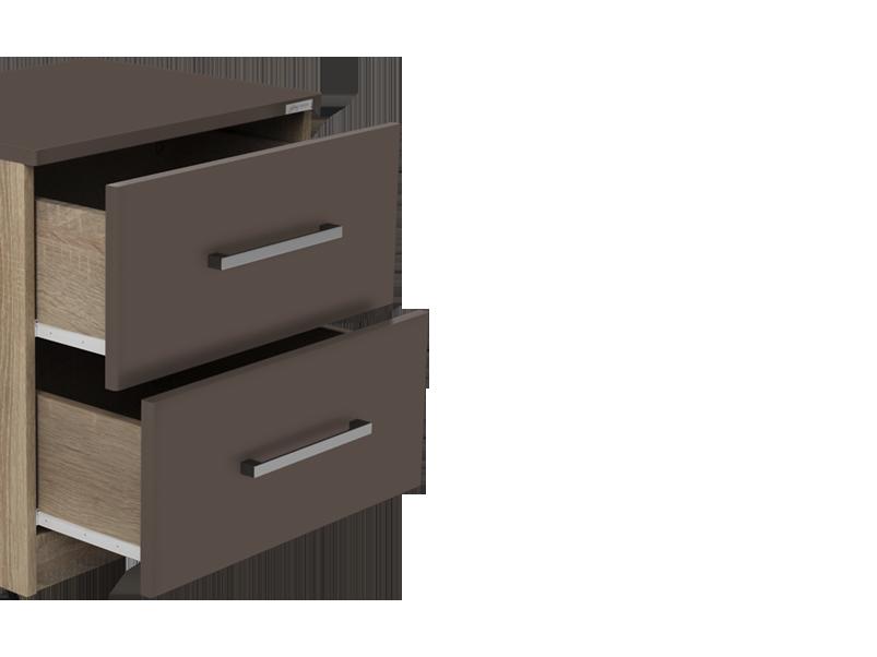 Buy Zen Pro Bed Side Table in Grey | Godrej Interio