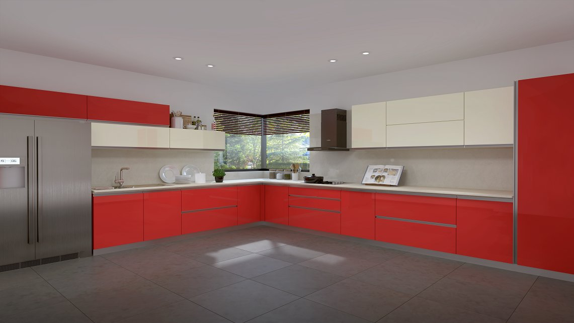 Red kitchens | 642x1141