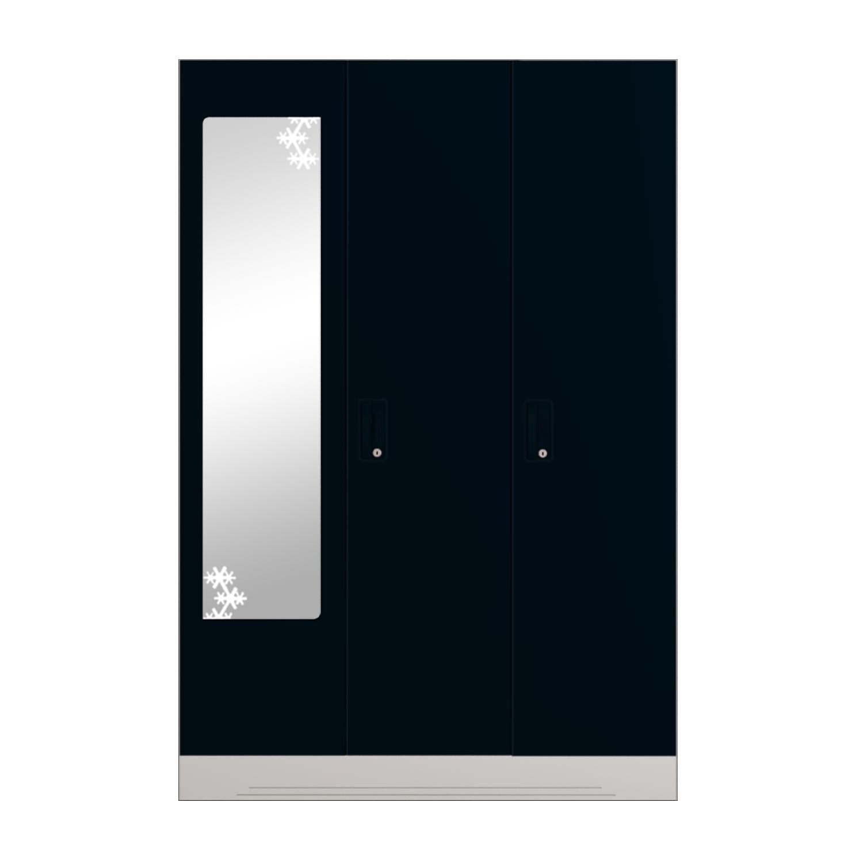 Buy Slimline Steel Almirah Locker Star Mirror In Pacific Blue Godrej Interio