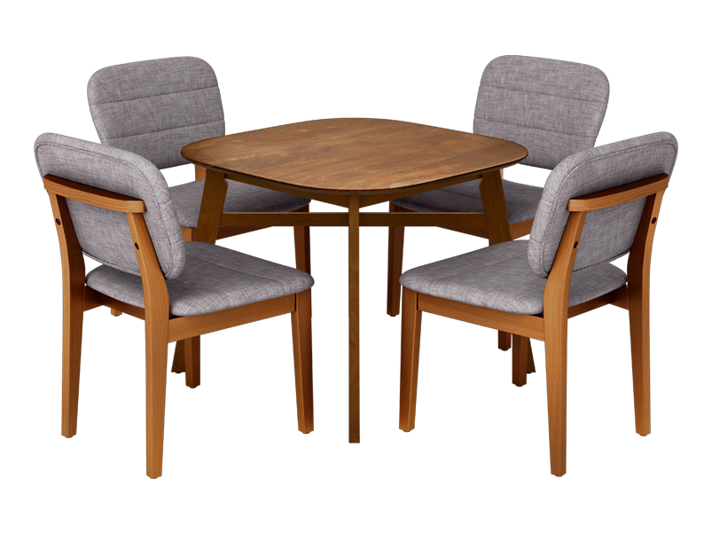 Buy Orbital 4 Seater Dining Table Set In Walnut Godrej Interio